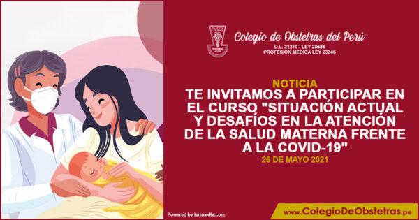 """curso """"Situación actual y desafíos en la atención de la salud materna frente a la COVID-19"""""""