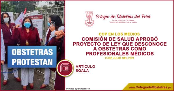 El Colegio de Obstetras del Perú denunció públicamente que el dictamen del PL N° 07965