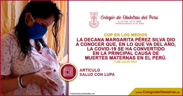 La decana Margarita Pérez Silva dio a conocer quela COVID-19 se ha convertido en la principal causa de muertes maternas