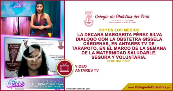 La decana Margarita Pérez Silva dialogó con la obstetra Gissela Cárdenas