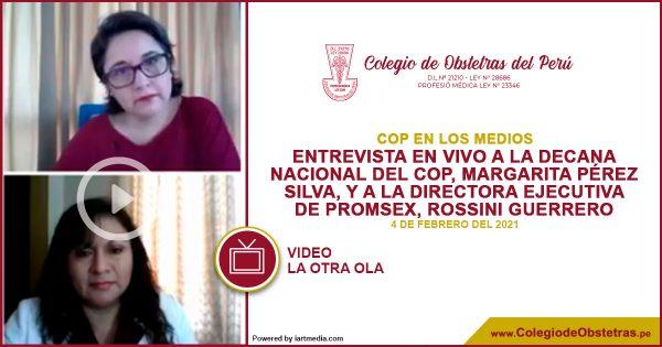 Entrevista En Vivo a la decana nacional del COP, Margarita Pérez Silva, y a la directora ejecutiva de PROMSEX, Rossini Guerrero.