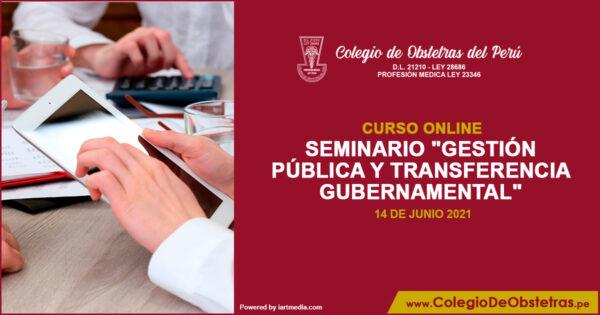 Seminario «Gestión pública y transferencia gubernamental»
