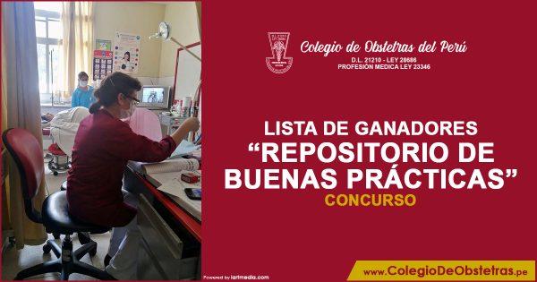 LISTA DE GANADORES DEL REPOSITORIO DE BUENAS PRÁCTICAS