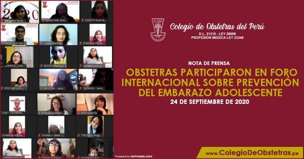 OBSTETRAS PARTICIPARON EN FORO INTERNACIONAL SOBRE PREVENCIÓN DEL EMBARAZO ADOLESCENTE