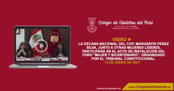 La decana nacional del COP, Margarita Pérez Silva, junto a otras mujeres líderes, participará en el acto de instalación del foro «Mujer y Bicentenario»