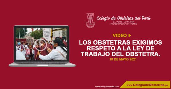 Los obstetras exigimos respeto a la Ley de Trabajo del Obstetra