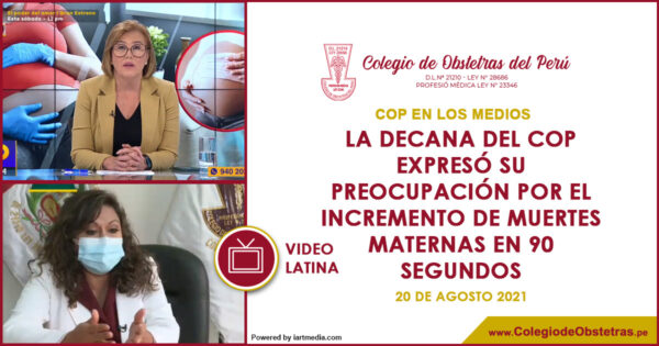 La decana del COP expresó su preocupación por el incremento de muertes maternas en 90 Segundos – Latina