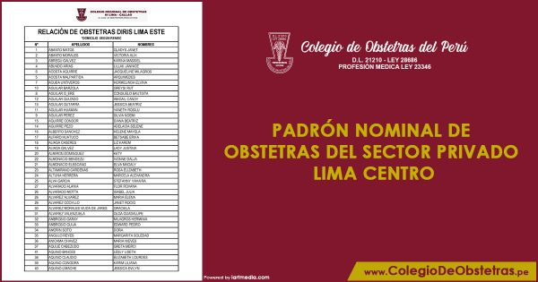 Obstetras del sector privado inicia la vacunación en Lima Centro