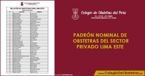 Obstetras del sector privado inicia la vacunación en Lima Este