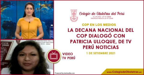 La decana nacional del COP dialogó con Patricia Ulloque, de TV Perú Noticias