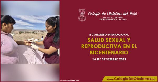 II CONGRESO INTERNACIONAL – SALUD SEXUAL Y REPRODUCTIVA EN EL BICENTENARIO