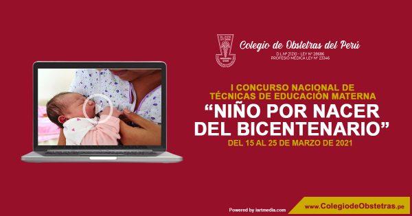 """I CONCURSO NACIONAL DE TÉCNICAS DE EDUCACIÓN MATERNA – """"NIÑO POR NACER DEL BICENTENARIO"""""""