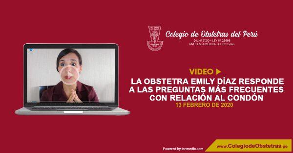 La obstetra Emily Díaz responde a las preguntas más frecuentes con relación al condón