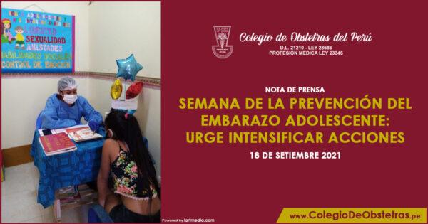 Semana de la Prevención del Embarazo Adolescente: urge intensificar acciones